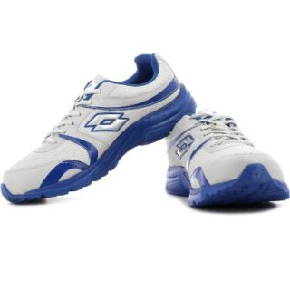 Mens White Blue Lace-Up Running Shoes FLAT 70% OFF+10% EXTRA OFF discount offer