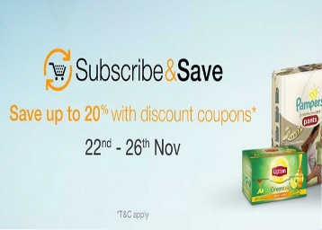 Amazon Subscribe & Save Additional upto 20% off discount offer