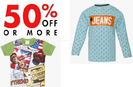 Get Upto 60% Off + Extra 10% off On Kids Clothing + More Offers Inside discount offer