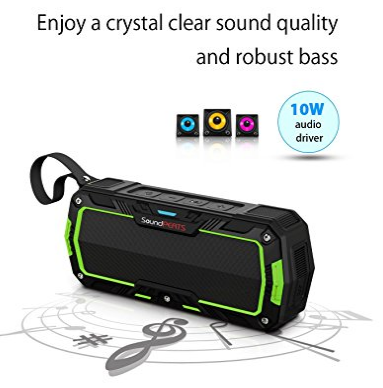 SoundPeats P3 Water Resistant Bluetooth Speaker 73% Off discount offer