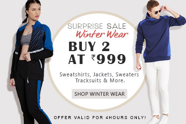 BUY 2 Winter Wear AT Rs.999 + Extra 25% discount at Yepme on Online Payments discount offer