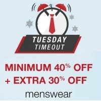 [Valid Till Mid Night] Tuesday Timeout Sale – Flat 40% OFF + Extra 30% OFF discount offer