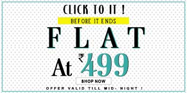 Yepme – Everything @ FLAT 499 + 25% off on online payments discount offer