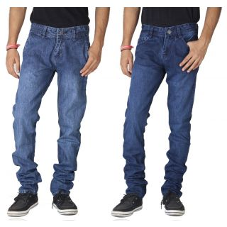 Blue Denim Mid Rise Jeans For Mens/Pack Of 2 at Just Rs. 599 + More Offers discount offer