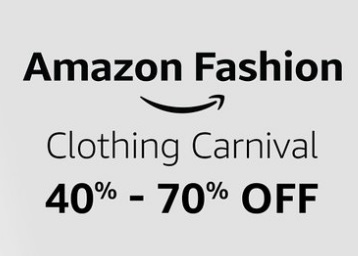 Amazon Fashion Bash Prime Member Preview – 30% – 70% off discount offer