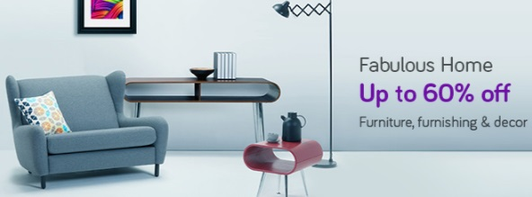 Get Upto 60% off on Home Furniture, Furnishing & Decore discount offer