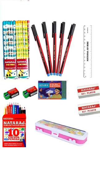 Loot Deal : Nataraj Class Combo (20 Pencil, 5 Pen, 2 Sharpener, 2 Eraser & Lot More) discount offer
