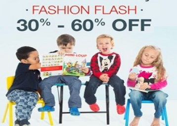 Flash Sale : Kids Clothing Minimum 30-60% Off + FREE Shipping discount offer
