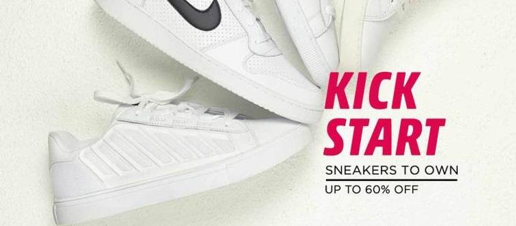 Get Upto 60% off on Branded Sneakers (Carlton London,duke,puma, Reebok, Sparx) discount offer