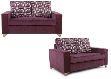 Lexus Two Seater Sofa in Purple Colour a 57% Off + Extra 20% Off discount offer