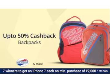 Big Cashback Sale – Wildcrafts Backpacks at 46% Off + Extra 40% Cashback discount offer