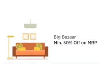Paytm Big Bazaar – Get Mnimum 50% off on Mrp Products + Extra Cashback discount offer