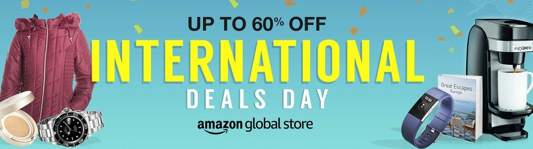International Deals Day – Get Upto 60% off at Amazon Global store discount offer