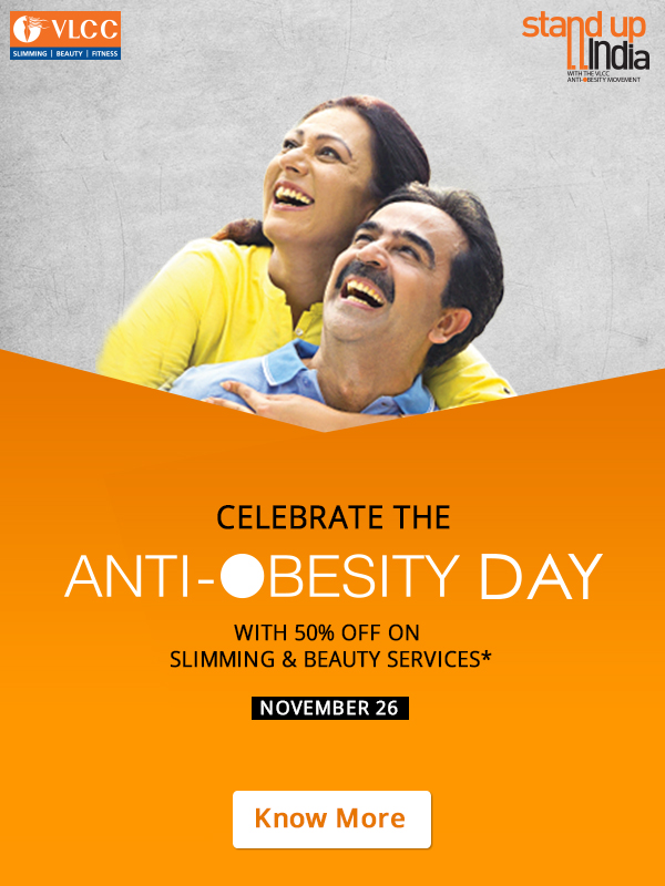 Celebrate the Anti – Obesity Day :- FLAT 50% OFF on Slimming & Beauty Services discount offer