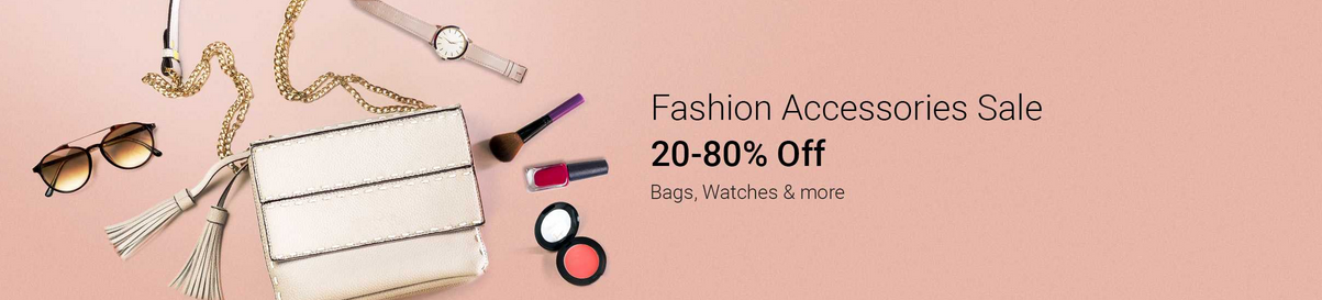 Fashion Accessories Sale – Get Flat 20% to 80% OFF + More Offers discount offer