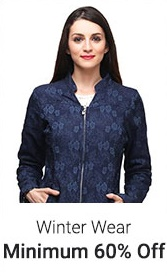 Min 60% or More discount on Women's Winter Wear discount offer
