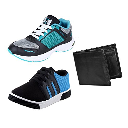 Earton COMBO Pack Canvas Sports Shoe & Casual Shoe with Wallet at FLAT 80% OFF discount offer