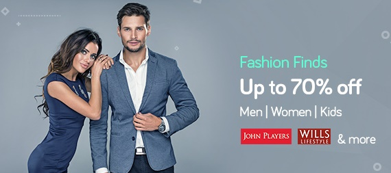 Get Upto 70% off on Men, Women & Kids Fashion discount offer