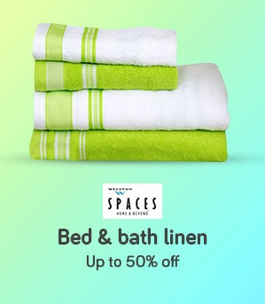 Get Upto 50% off on Spaces Bed and Bath Linen discount offer