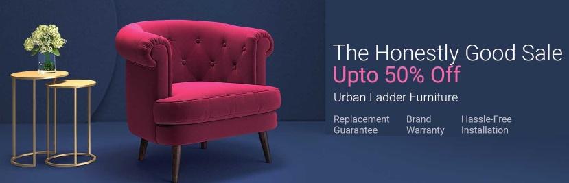 Get Upto 50% off on Urban Ladder Furniture discount offer