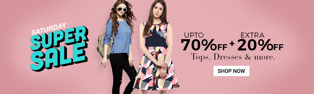 Get Upto 90% OFF on Tops, Dresses + Extra 20% Cashback low price