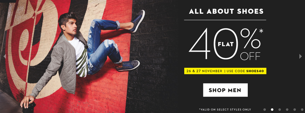 Buy KOOVS Footwears at Flat 40% OFF + Free Shipping discount offer
