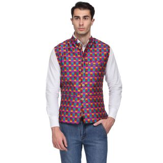 Sobre Estilo Checkered Mens Waistcoat at FLAT 84% OFF + Extra 5% OFF + FREE SHIPPING discount offer
