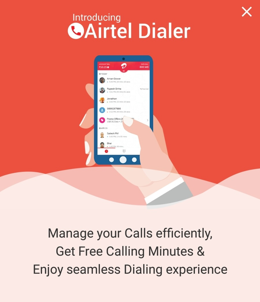 Get Free Local & STD Minutes Just For Using Airtel Dialer discount offer