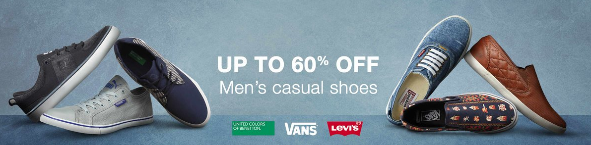 Mens Casual Shoes UPTO 60% OFF discount offer