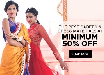 Best Sellers In Women Ethnic Wear – Get Minimum 50% Off discount offer