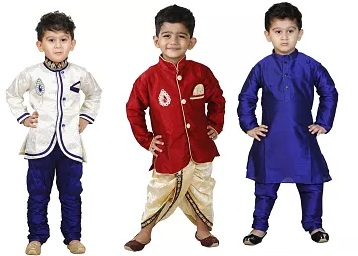 Get Boys Ethnic Wear Upto 80% Off Starts at Rs. 209 + Extra 10-20% Off discount offer