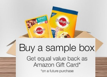 Buy Pedigree Combo Pack Rs.97 & Get Amazon Gift Card Rs.97 Free discount offer