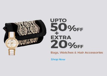 Bags, Watches & More Upto 50% OFF + Extra 20% OFF discount offer