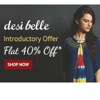 Desi Belle Clothing Flat 40% OFF Starts Rs.599 discount offer