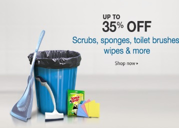 Upto 35% or More off on Home cleaning supplies discount offer
