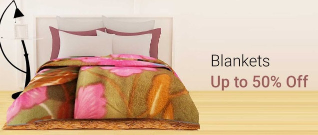 Upto 50% off on Branded Blankets discount offer