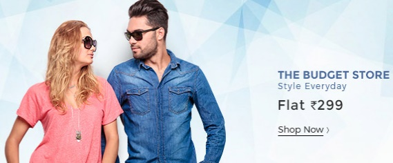 Shopclues Budget Store – Fashion @ Flat 299 discount offer