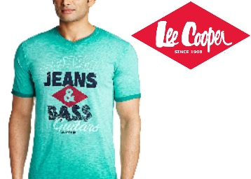 Lee Cooper Clothing Minimum 50% Off Or More Starting at Rs. 244 discount offer