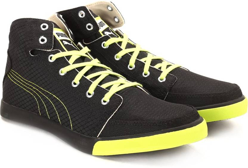 Puma Drongos DP black-lime Men High Ankle Sneakers at 64% Off discount offer