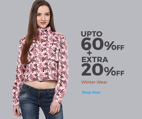 Get Upto 80% OFF on Winter Wear + Extra 20% Cashback !!! discount offer