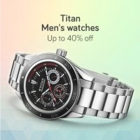 Titan Mens Watches Upto 40% OFF Starts Rs.1309 + More Offers discount offer