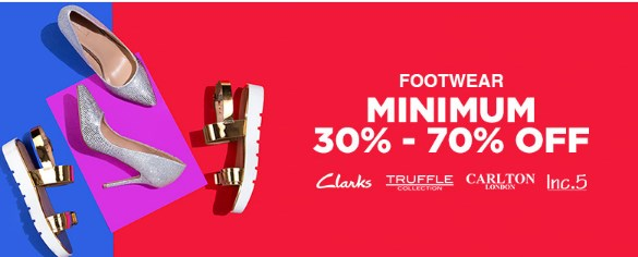 Get Minimum 30% – 70% Off + Extra 10% Off on Women's Shoes discount offer