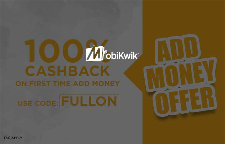 FullOn: Get 100% Cashback on First Time Add Money! discount offer