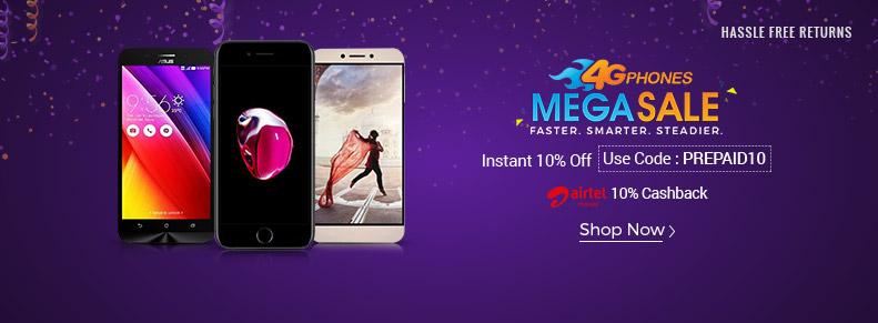 Shopclues 4G Mega Sale Upto 60% off + 10% off + 10% Cashback discount offer