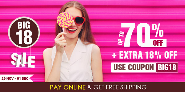 Get Upto 70% off + Extra 18% off at Big 18 Sale @ Homeshop18 discount offer