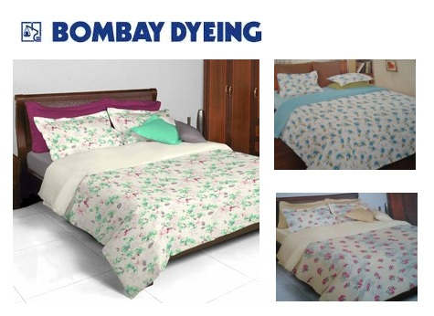 Exceptionnel ... Bombay Dyeing Double Bedsheets @ Indiarush. Freekaamaal.com