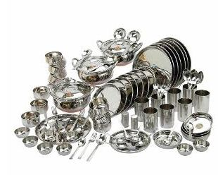 Pnb China Silver Touch Dinner Set 90 Pcs Worth Rs 5646 At Rs 2335