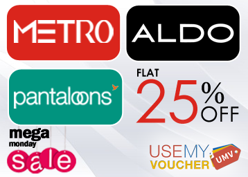 97307492bcf Flat 25% OFF on Pantaloons, Metro and Aldo Brands at FreeKaaMaal.com