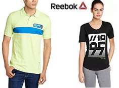Reebok Clothing 60% off or more from Rs. 249 + FREE SHIPPING