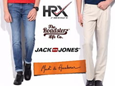 Super Offer : Jeans & Trousers Flat 50-80% Off From Rs. 418 Under Rs. 999